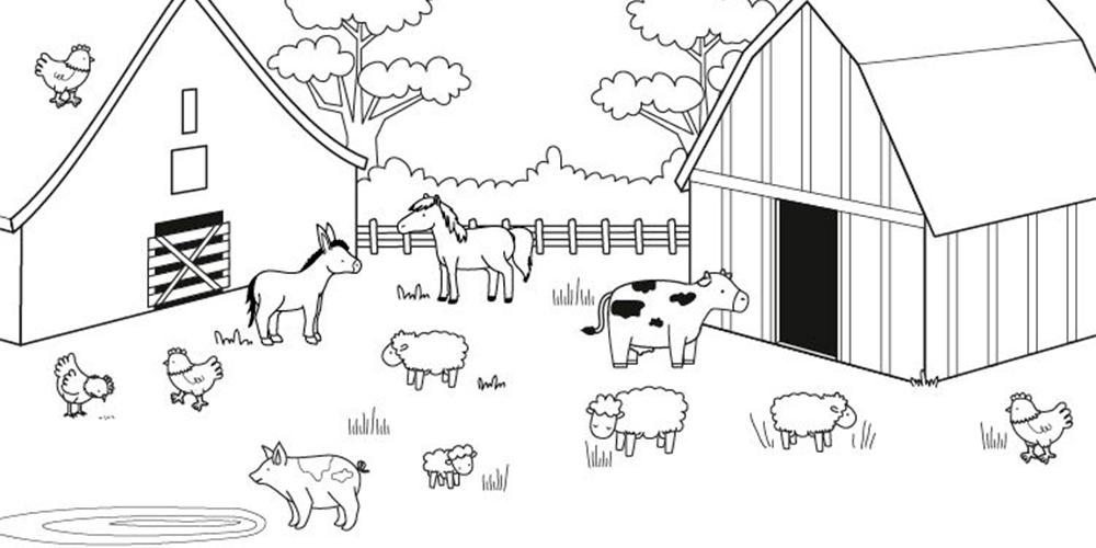 cómo dibujar animales de granja