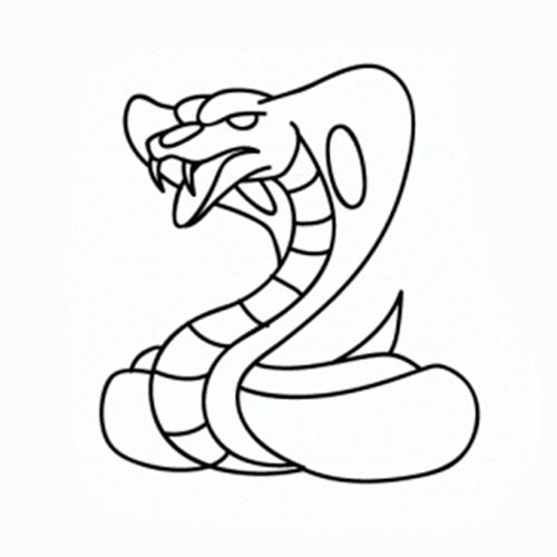 como dibujar una cobra facil paso a paso
