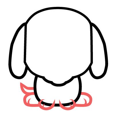 dibujar un pequeño perrito kawaii fácil para niños