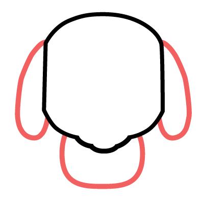 dibujar pequeño perro kawaii