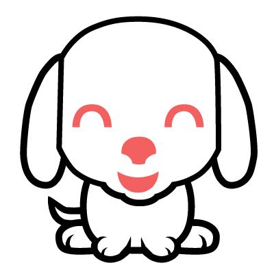 imagen perro kawaii para colorear