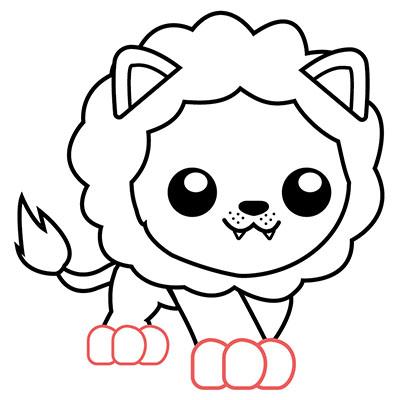 león kawaii chibi