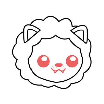 dibujar león kawaii fácil