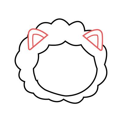 dibujar cabeza león kawaii