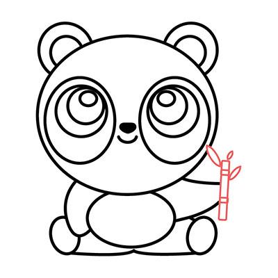 dibujar oso panda kawaii paso a paso
