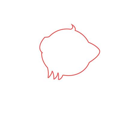 dibujar cabeza gato kawaii