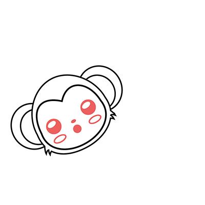 dibujar mono kawaii facil