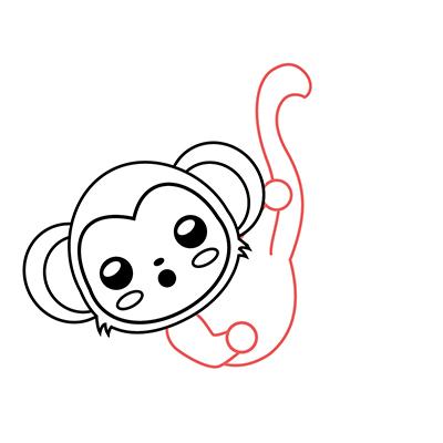 dibujar mono kawaii paso a paso