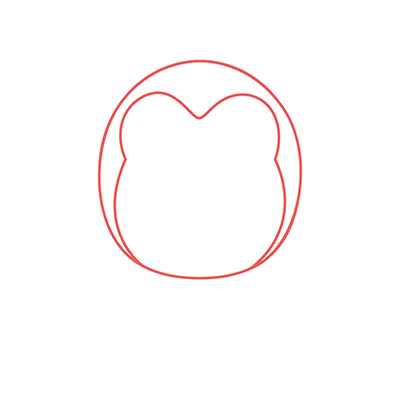 dibujar cabeza pingüino kawaii