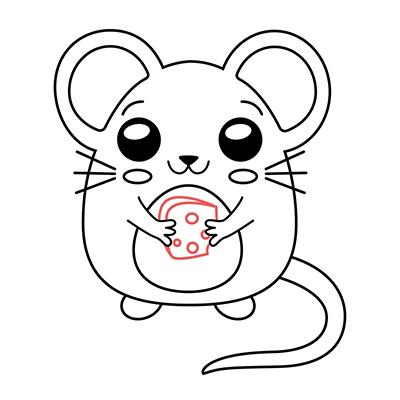 ratón kawaii chibi