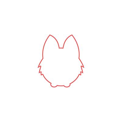 dibujar cabeza murcielago kawaii