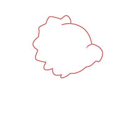 dibujar cabeza dinosaurio kawaii