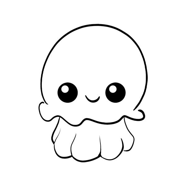 medusa kawaii colorear imprimir