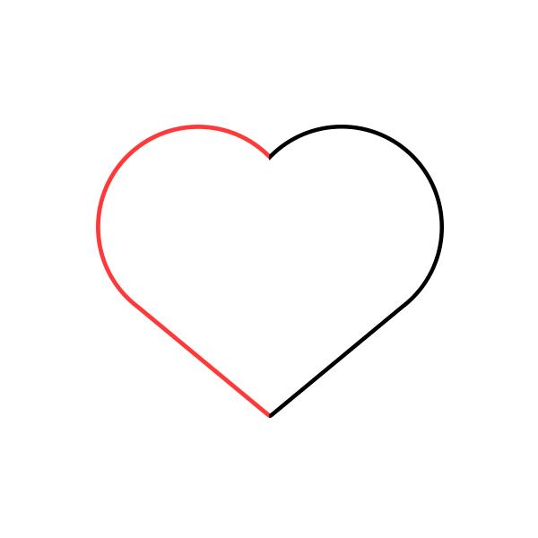 como dibujar un corazon