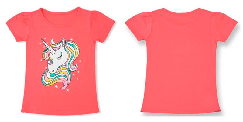 comprar-camiseta-unicornio-roja-nina