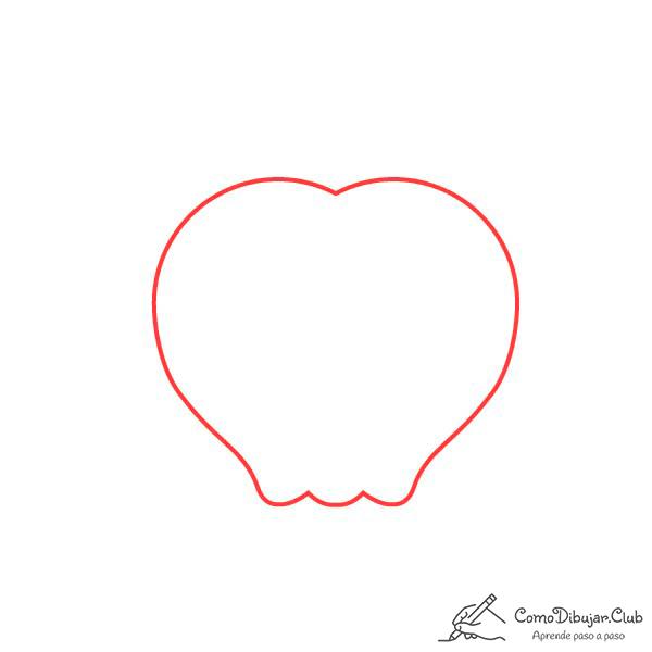 dibujar-cabeza-manzana-kawaii
