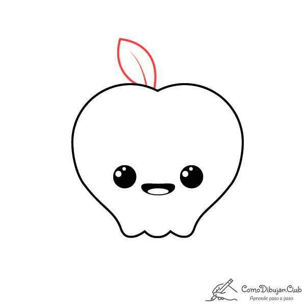 dibujar-manzana-kawaii-paso-a-paso