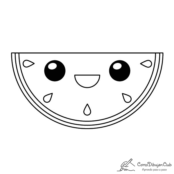 sandia-kawaii-colorear-imprimir-dibujo
