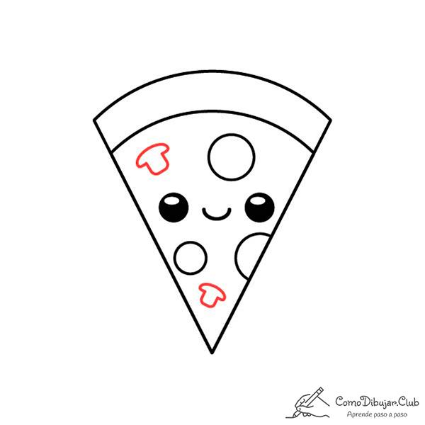 dibujo-pizza-kawaii-bebe