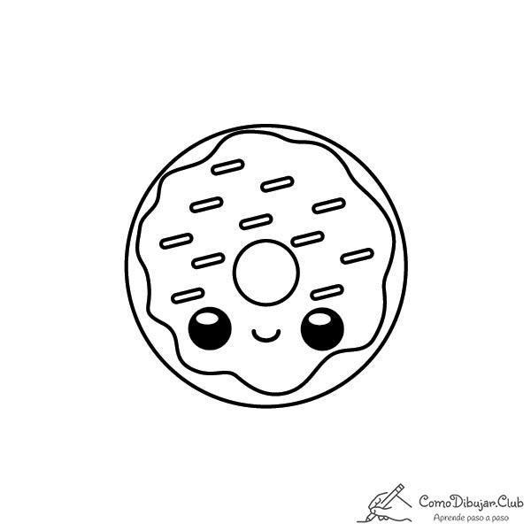 donut-kawaii-colorear-imprimir-dibujo