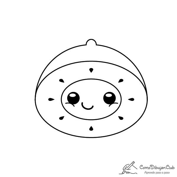 kiwi-kawaii-colorear-imprimir-dibujo
