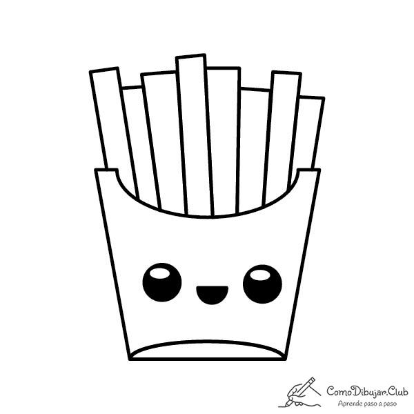 patatas-fritas-kawaii-colorear-imprimir-dibujo