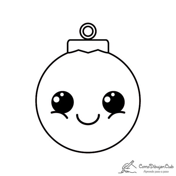 bolas-de-navidad-kawaii-colorear-imprimir-dibujo