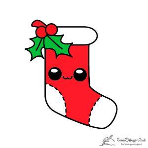 calcetin-de-navidad-kawaii