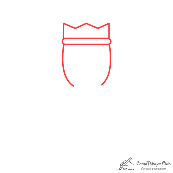 dibujar-cabeza-rey-Gaspar-kawaii