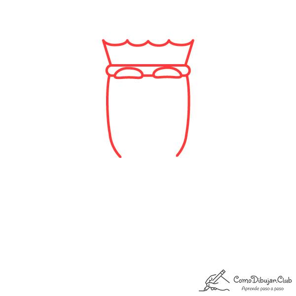 dibujar-cabeza-rey-Melchor-kawaii