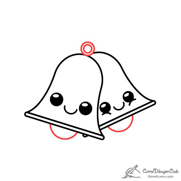 dibujar-campanas-de-navidad-kawaii-paso-a-paso