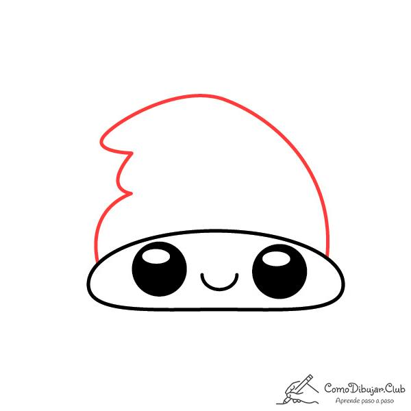 dibujar-gorro-de-navidad-kawaii-paso-a-paso