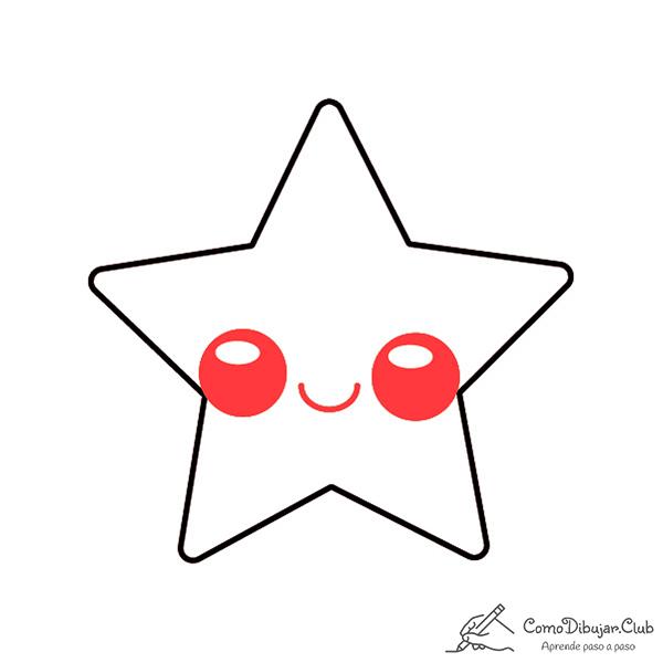 dibujar-kawaii-estrella-de-navidad-facil