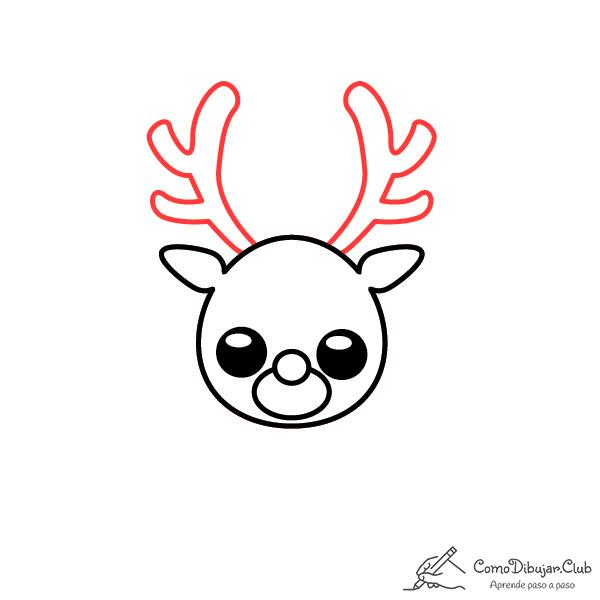 dibujar-renos-de-navidad-kawaii-paso-a-paso