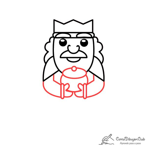 dibujo-rey-Gaspar-kawaii-bebe