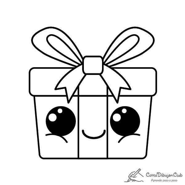 regalos-de-navidad-kawaii-colorear-imprimir-dibujo