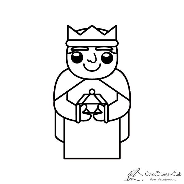 rey-Baltasar-kawaii-colorear-imprimir-dibujo