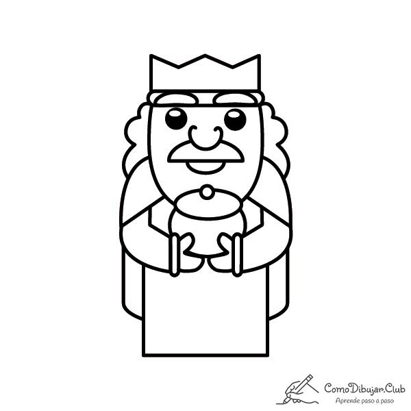 rey-Gaspar-kawaii-colorear-imprimir-dibujo