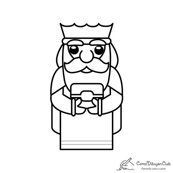 rey-Melchor-kawaii-colorear-imprimir-dibujo