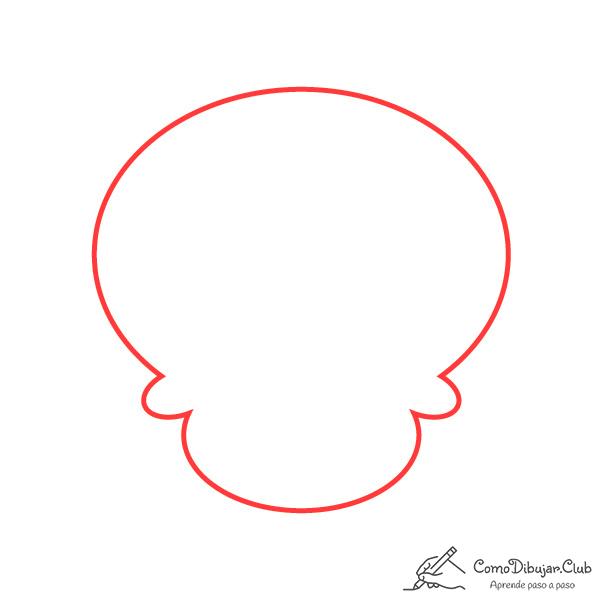 dibujar-cabeza-calavera-kawaii