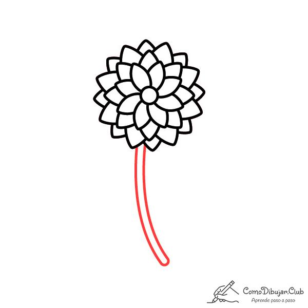 flor dalia bonita dibujo