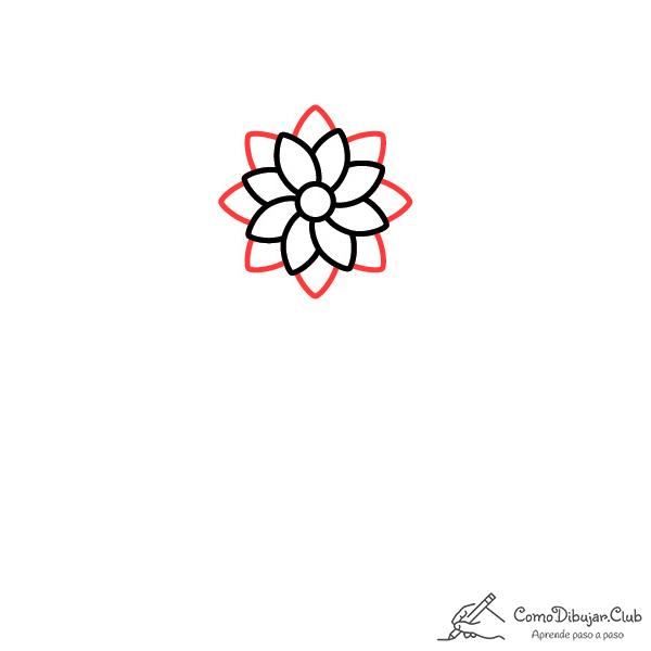 flor dalia dibujo facil