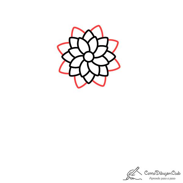 flor dalia dibujo ninos