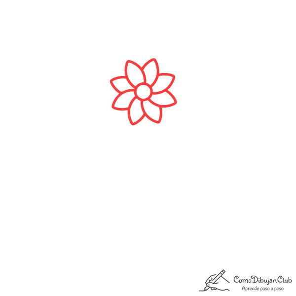 flor dalia flor dibujo