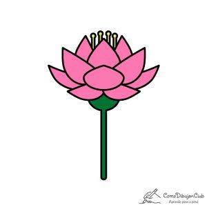 flor-de-loto-dibujo
