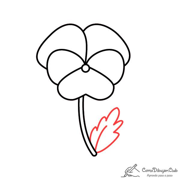 flor pensamiento bonita dibujo