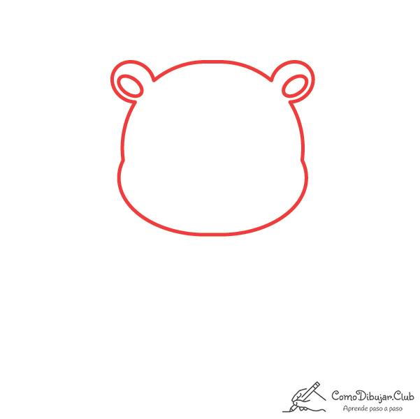 dibujar-cabeza-oso-kawaii