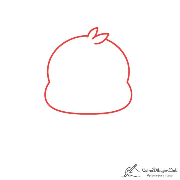 dibujar-cabeza-pollito-kawaii