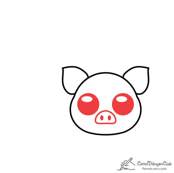 dibujar-cerdo-kawaii-facil