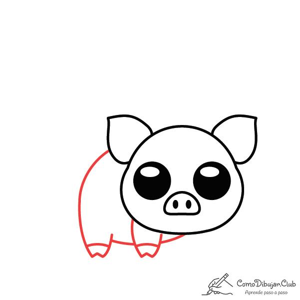 dibujar-cerdo-kawaii-paso-a-paso